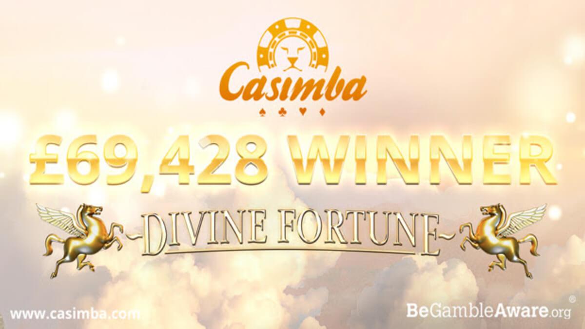 Divine Fortune jackpot på Casimba